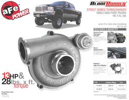 Ford Diesel Truck Reliability - afe power new product bladerunner street series turbocharger