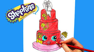 wedding cake drawing how to draw shopkins season 3 wendy wedding cake step by step