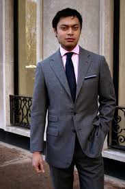 what color shirt with light grey suit oliver gerona domenico vacca fifth ave new york the sartorialist
