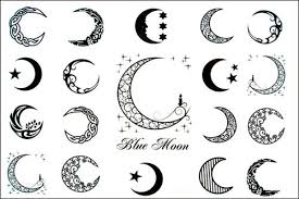 moon tattoos for design release blue moon of