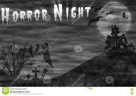 free halloween horror nights halloween horror landscape stock vector image 56237989