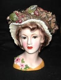 Vintage Lady Head Vases 535 Best Vintage Ladies Heads Vases Images On Pinterest Half