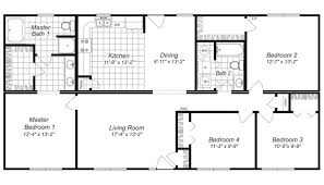 4 bdrm house plans one story 4 bedroom house plans 2016 house plans and home design