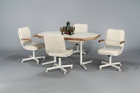kitchen table and chairs with casters kitchen table and chairs with wheels marceladick com