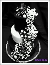 black and white decorations for a birthday party in 21st