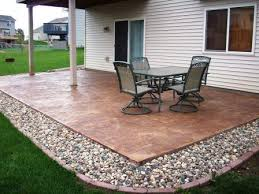 Stamped Concrete Patio Designs Pictures by Wonderful Simple Concrete Patio Designs Outdoor To Design Inspiration