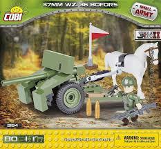army jeep with gun bofors 37 mm wz 36 small army ww2 for kids wiek cobi toys