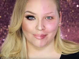 makeup school ta beauty guru nikkie demonstrates make up s by transforming half of