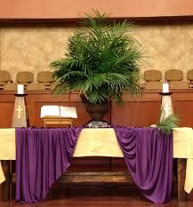 Easter Decorations For Church Sanctuary by Gaumc Sanctuary Palm Sunday Altar 2014 Altar Design Pinterest