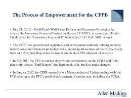 consumer fraud bureau the fcra ecoa and the consumer financial protection bureau