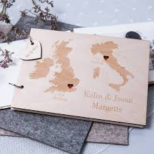 wedding guestbook personalised duo destination map guest book by clouds and currents