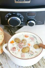crock pot potato and ham soup the country cook