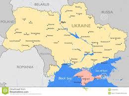 Map Ukraine Ukraine Map Stock Vector Image 51932339
