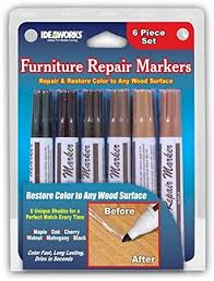 amazon com set of 6 assorted furniture repair markers stain