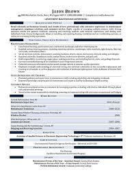 Maintenance Foreman Resume Maintenance Resume Examples Resume Professional Writers