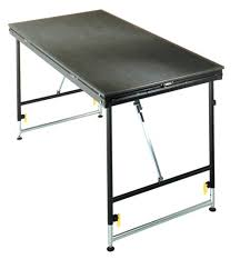 foldable table adjustable height best folding table adjustable height foldlegstageriser1 facil