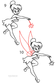 draw tinkerbell step step pictures cool2bkids drawing