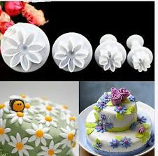Where Can I Buy Christmas Cake Decorations Aliexpress Com Buy 4pcs Set Daisy Flower Cookie Sunflower