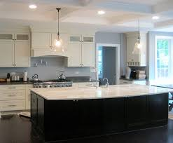white kitchen with black island white shaker kitchen large island modern kitchen