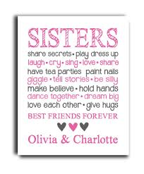 Hypolita Love Anchors The Soul - sisters print a great gift any little one s room hypolita com