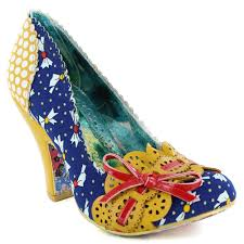 irregular choice make my day 4135 02y womens court shoes yellow
