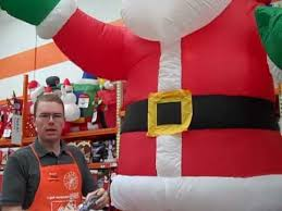 Home Depot Decoration How To Set Up Inflatable Holiday Decorations The Home Depot