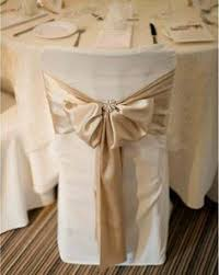 chair covers for wedding ivory chair cover with gold organza sash and ivory tieback