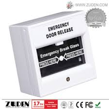 break glass door release china break glass fire emergency exit release with white color