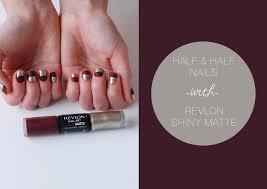 half u0026 half nails with revlon shiny matte the blondielocks