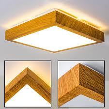 deckenlen fã r badezimmer led deckenle sora wood eckig 900 lumen 12 watt 3000 kelvin