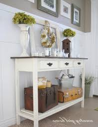 Hall Table Plans Entry Hall Table With Drawers Entryway Furniture Ideas