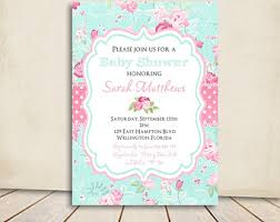 items similar to shabby chic burlap baby shower invitation