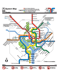 Dc Metro Rail Map by Virginia Tech Graduate Student Services Office National Capital