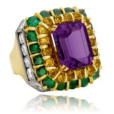 emerald amethyst rings images Amethyst citrine emerald and diamond ring legacy hammerman png