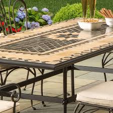 mosaic electric patio heater alfresco home loretto 8 person mosaic dining set ultimate patio