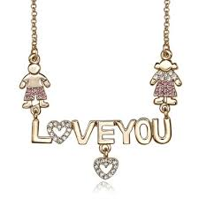 heart rhinestone necklace images Love you word pendant necklaces rhinestone word heart necklaces gold jpg