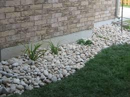 River Rock Garden Bed Landscaping With River Rock Installation Backyard Landscape Design