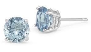aquamarine stud earrings aquamarine stud earrings 14k white gold