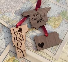 rustic wood ornament wedding favor favor personalized