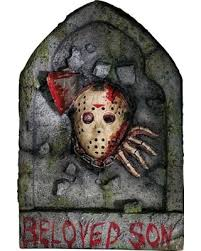 sweet deal on friday the 13th jason voorhees tombstone decoration by