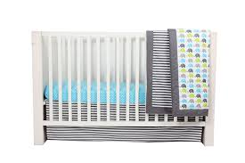 bacati elephants aqua lime grey 10 pc crib set without bumper pad