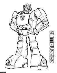 yellow transformer bumblebee coloring page printable for boys