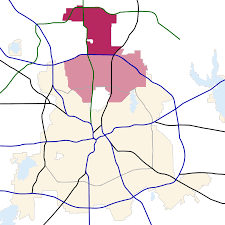 Tx Zip Code Map by Far North Dallas Wikipedia