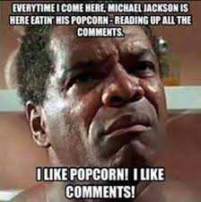Meme Photo Comments - michael jackson eating popcorn meme and other funny photo comments