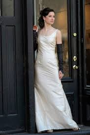 silk fit and flare wedding dress chagne simple fit and flare silk wedding dress 2530879 weddbook