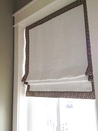 Roman Shades For Bathroom Greek Key Roman Shade Roman Shade With Greek Key Trim Transitional