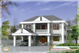 Two Story Small House Plans Double Storey Home Design Kerala Floor Architecture Plans 50336
