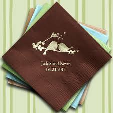 wedding napkins birds printed wedding napkins 25 colors