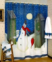 Snowman Shower Curtain Target Holiday Outhouse Christmas Winter Snowman Shower Curtain Linda