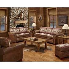 brown microfiber living room set
